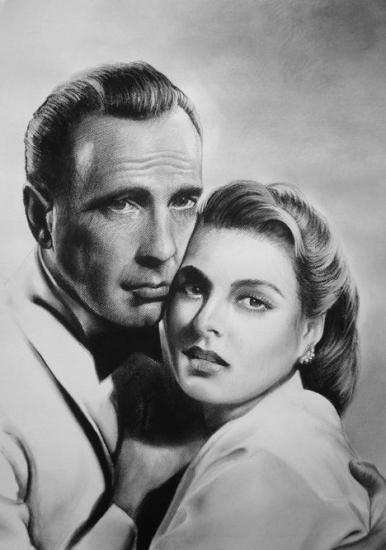 Ingrid Bergman, Humphrey Bogart par GOTYCKI